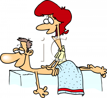 Cartoon Massage Clipart.