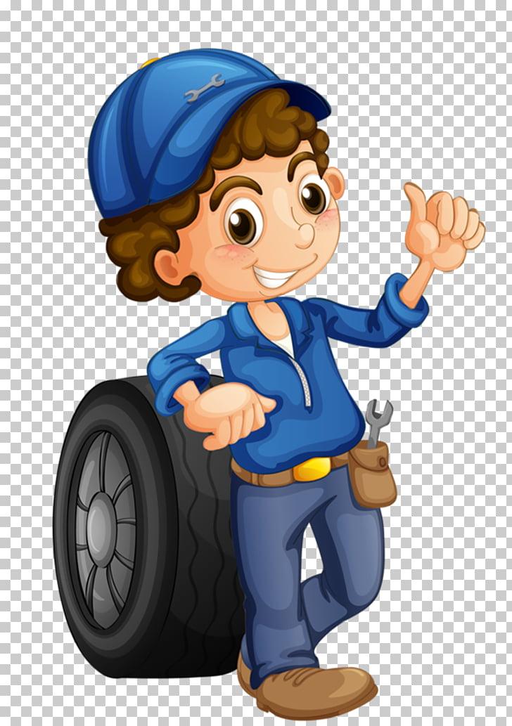 Car Auto mechanic Female Illustration, Car maintenance.