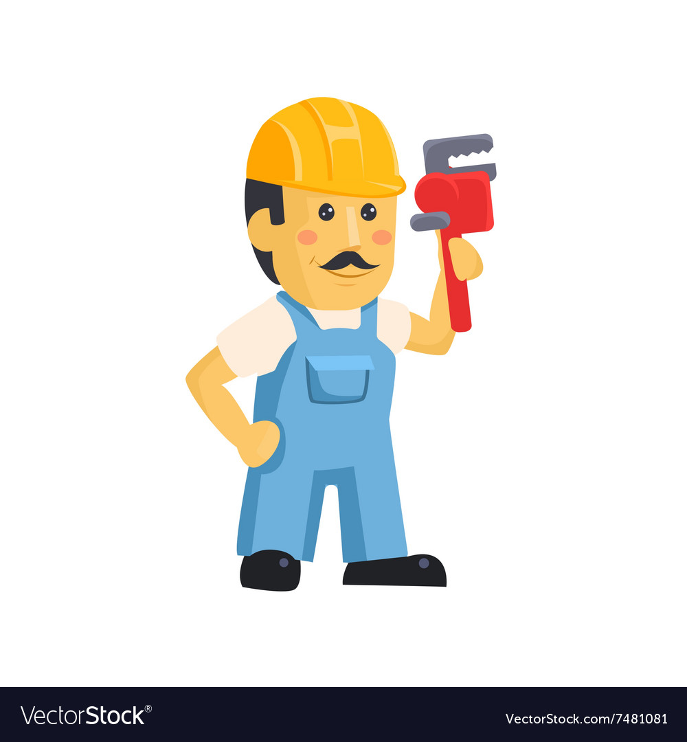 Clipart picture of a male mechanic cartoon.
