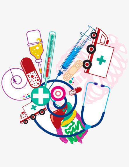 Cartoon Medical Supplies, Cartoon Clipart, Medical Clipart, Cartoon.
