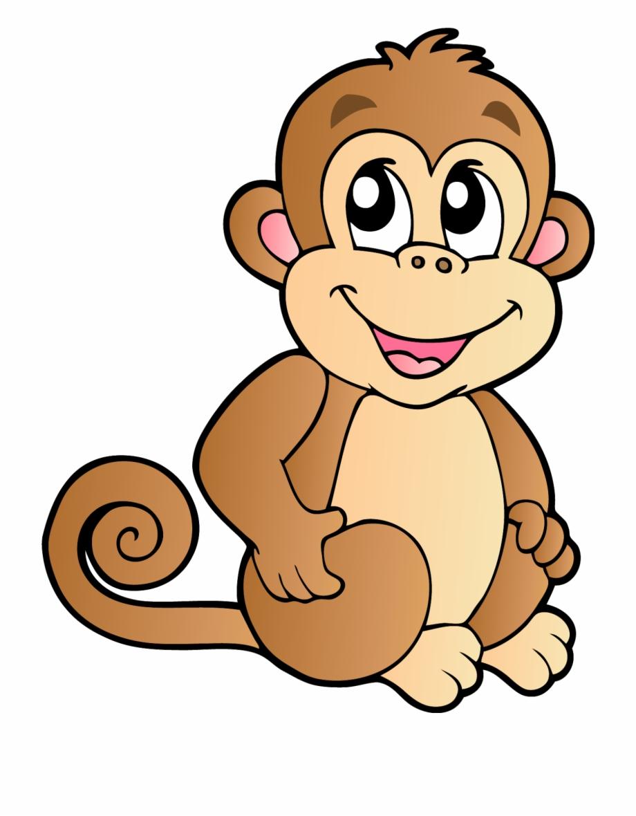 Monkey Cartoon Drawing Illustration.