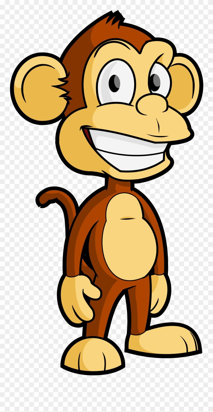 Free Cartoon Monkey Vector Clip Art.