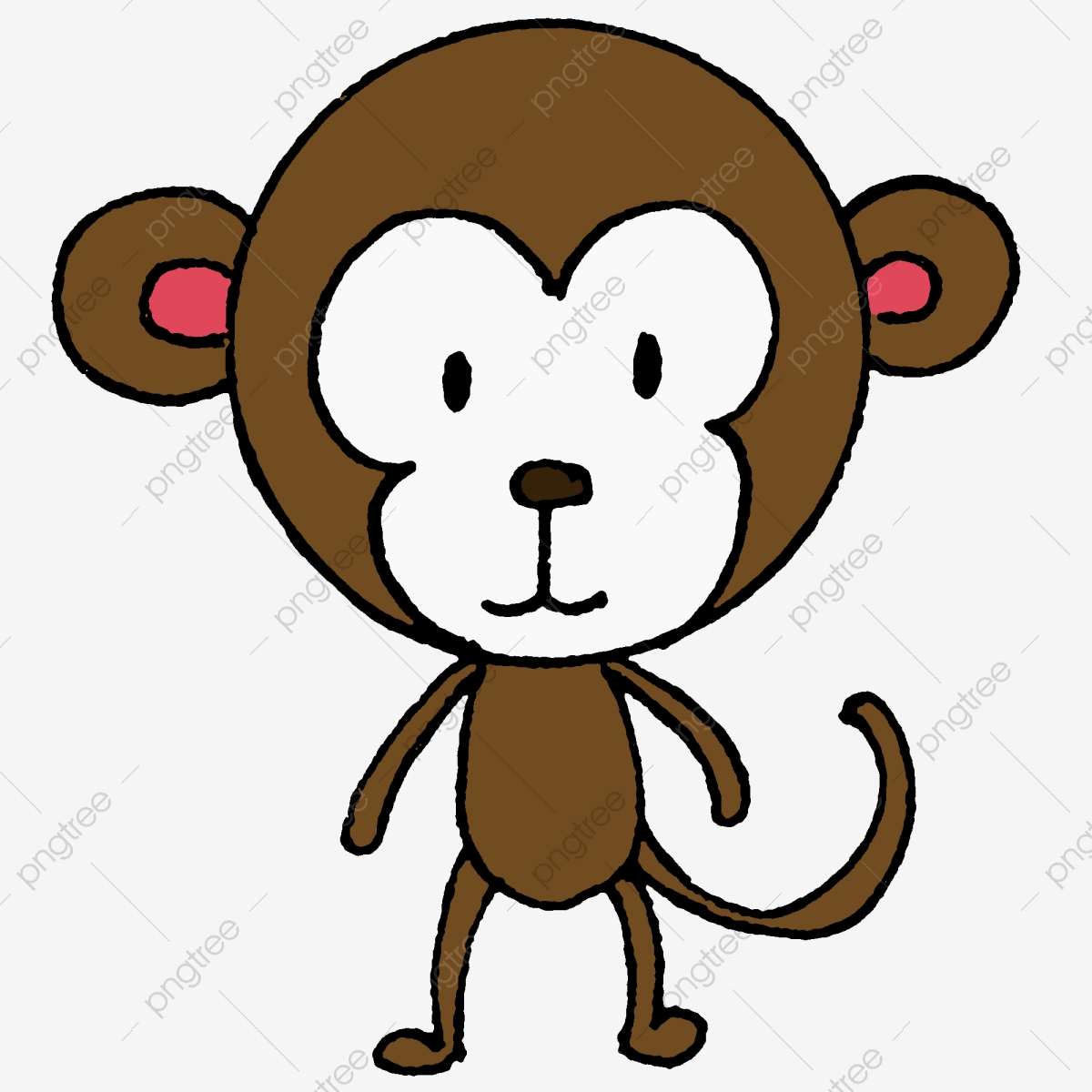 Cartoon Monkey, Monkey Clipart, Cartoon Clipart, Cartoon PNG.