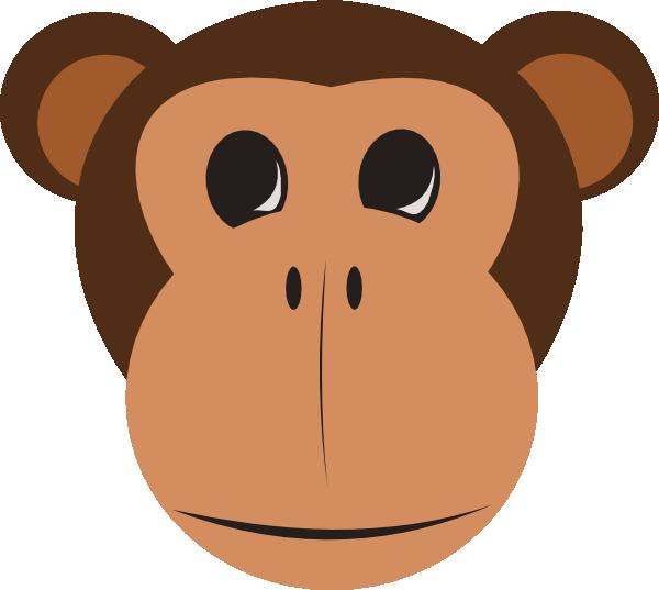 Monkey Face Clip Art at Clker.com.