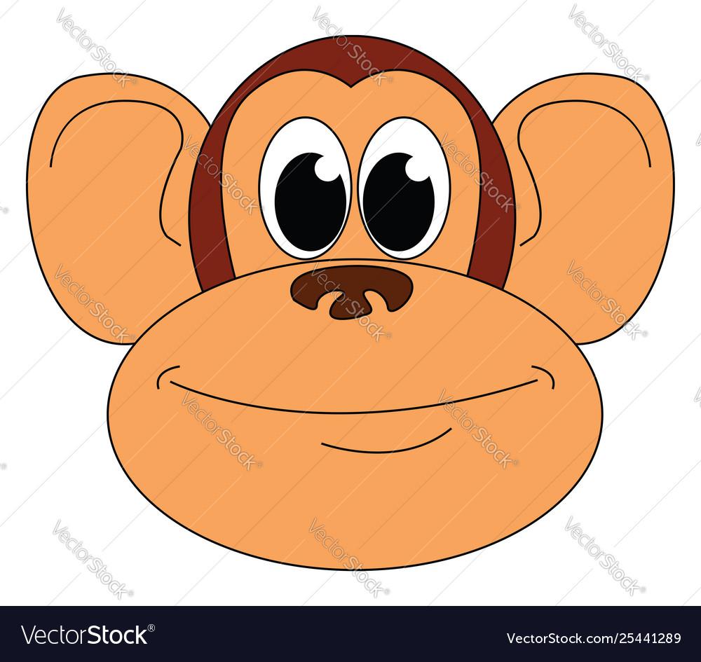 Clipart face a cartoon monkey or color.