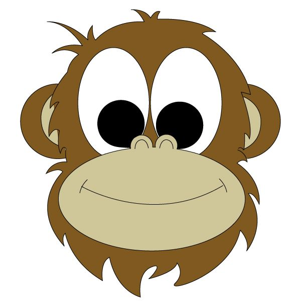 Monkey Face Drawing.