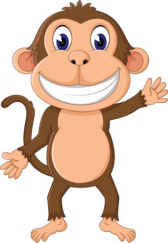 Cute Cartoon Monkey premium clipart.