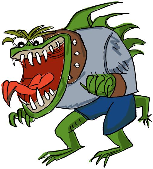 Cartoon Monster Png Vector, Clipart, PSD.