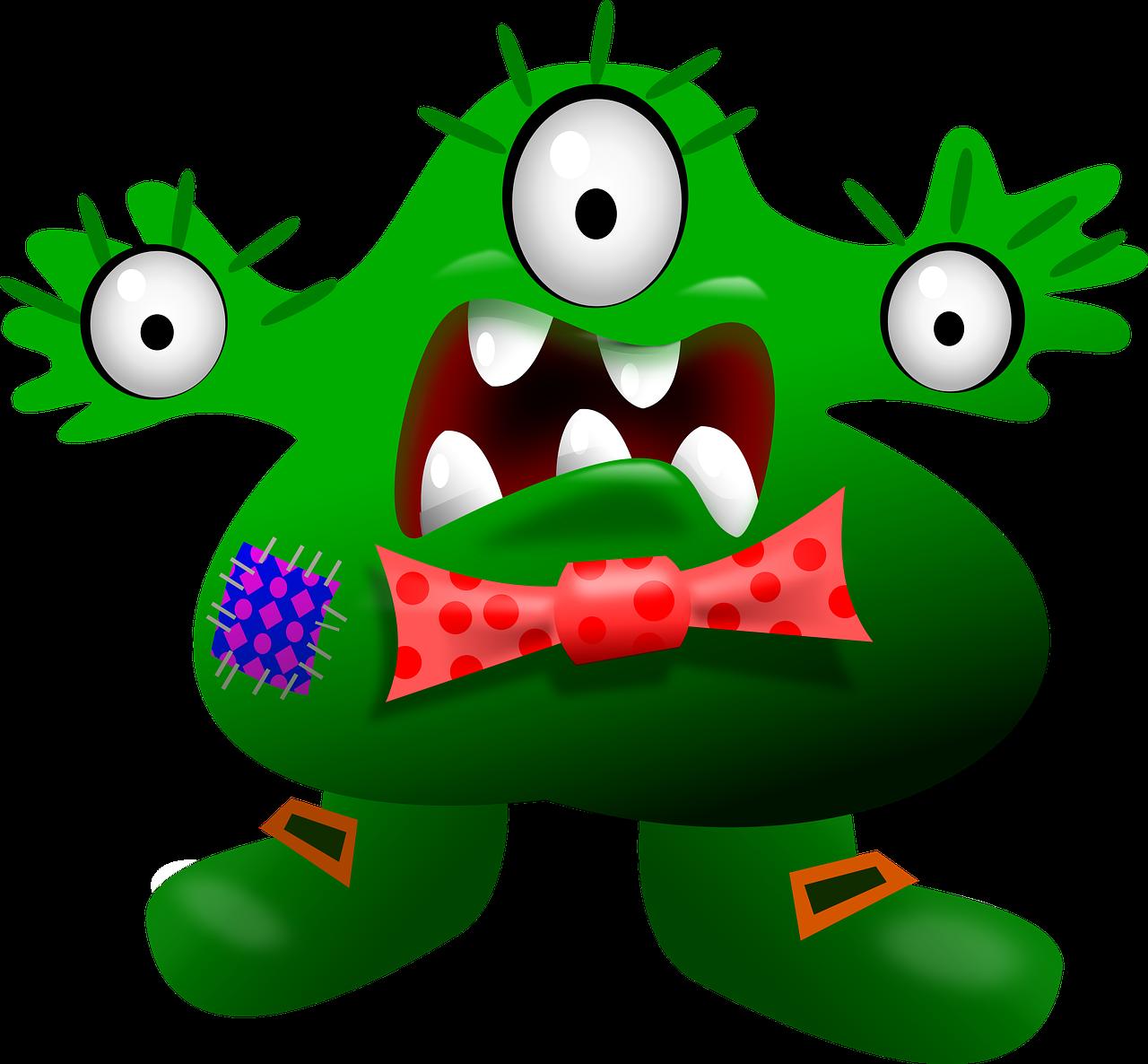 Monster Cartoon Halloween Alien PNG.