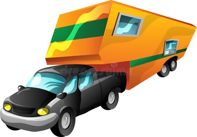 Cartoon Motorhome Stock Illustrations.