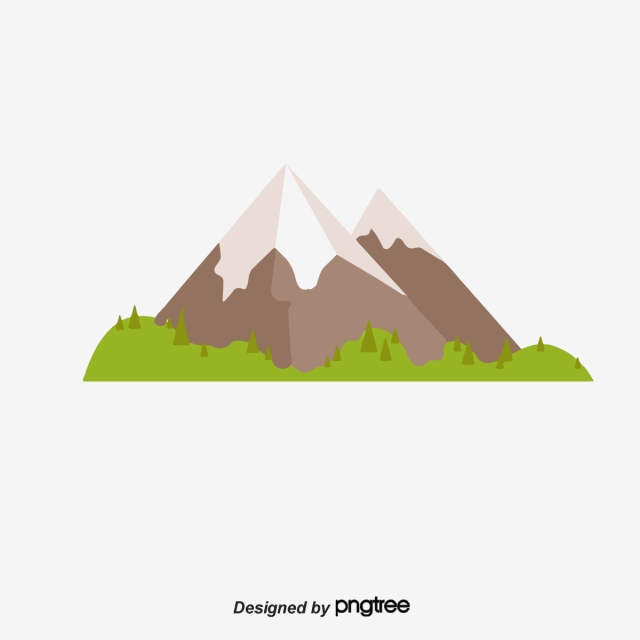 Cartoon Mountains PNG Images.