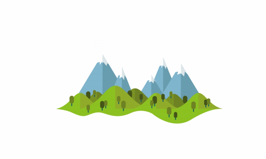 Summer Vector Cartoon Illustration Mountains Free Download.