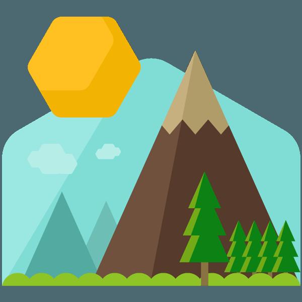 Mountain Cartoon Clip art.