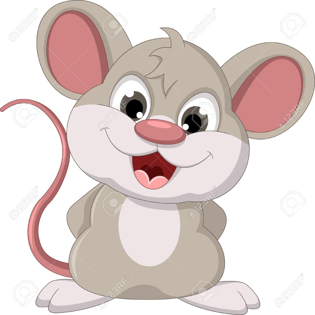 cute mouse cartoon posing.