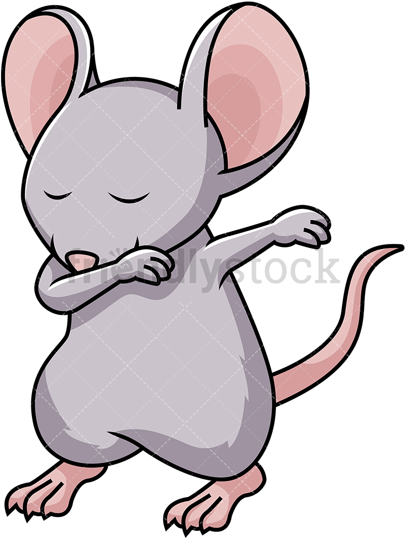 Dabbing Mouse.