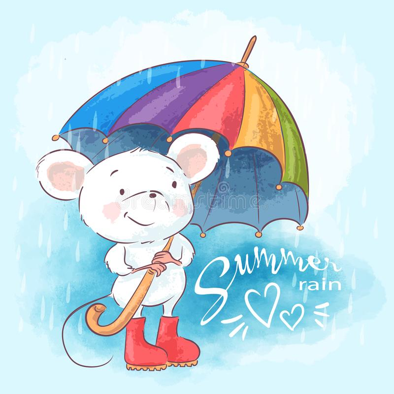 Cute Cartoon Mouse Stock Illustrations.