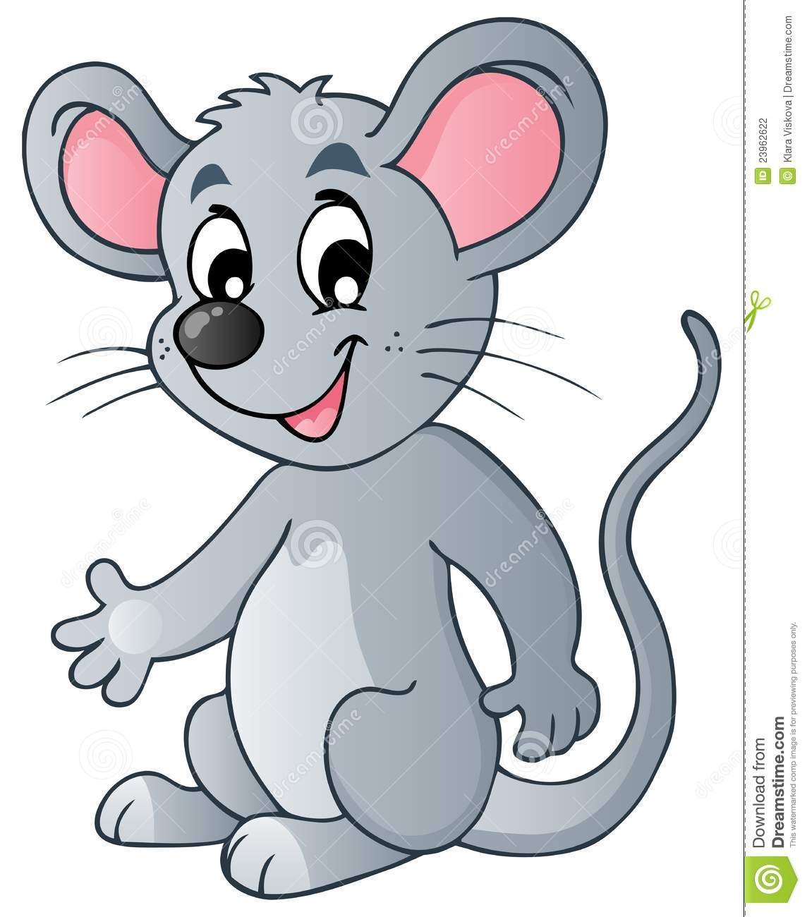 Cute cartoon mouse stock vector. Illustration of clipart.