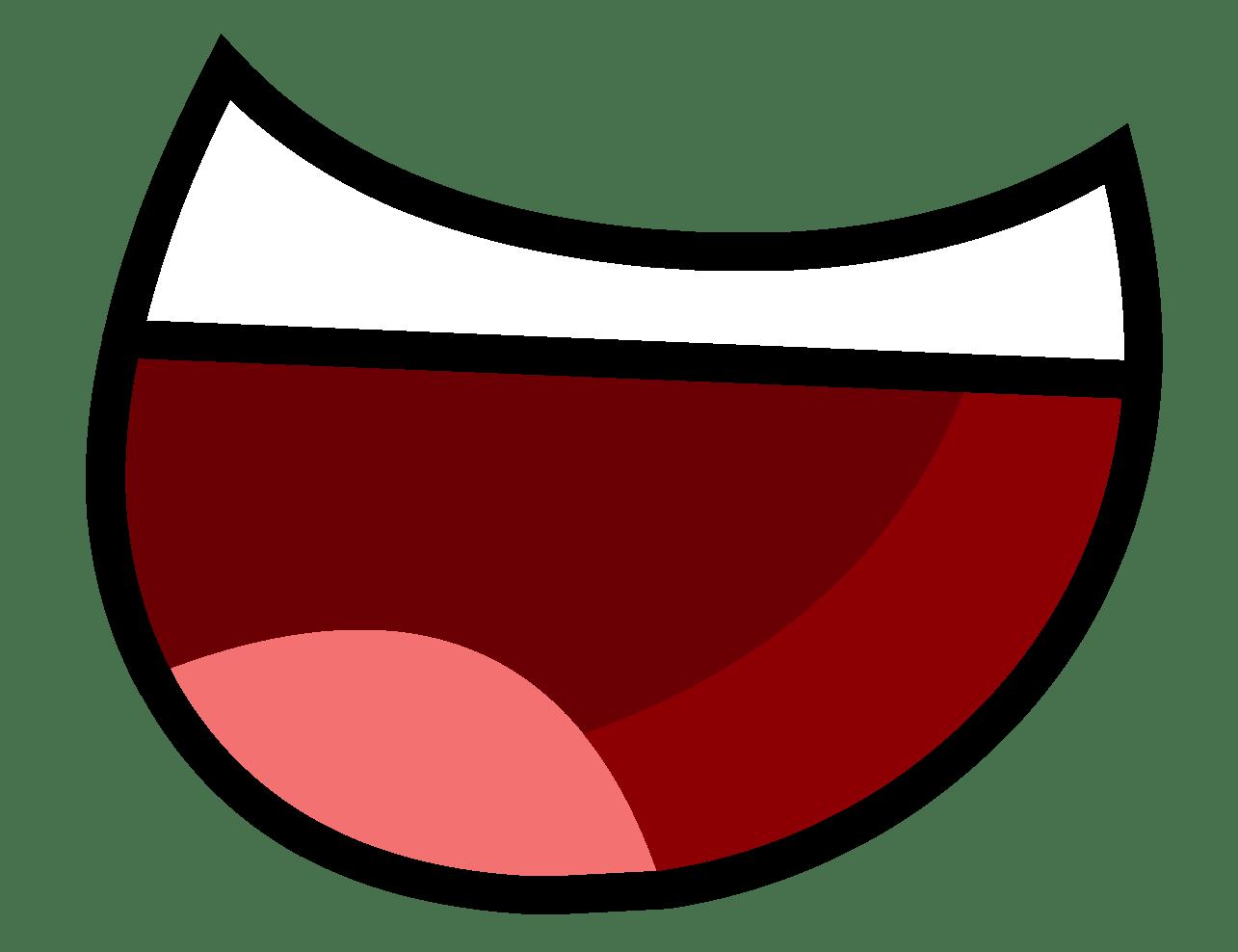 Cartoon Mouth transparent PNG.