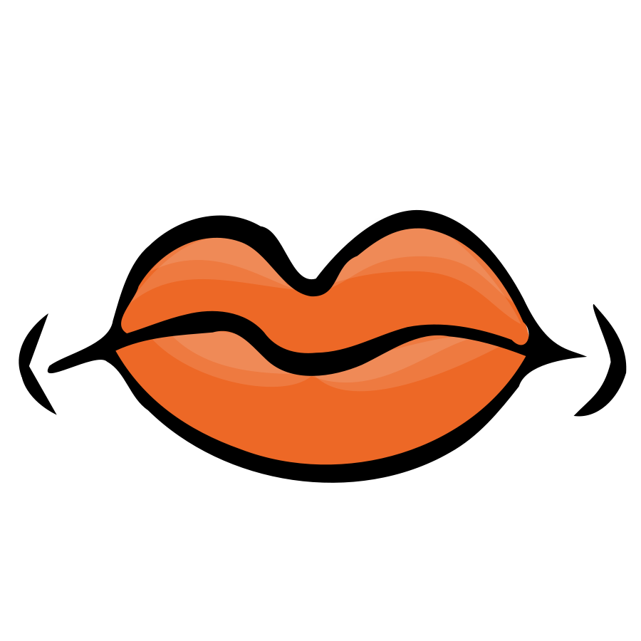 cartoon mouth frown clipart