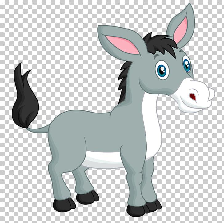 Donkey Mule, Cartoon donkey PNG clipart.