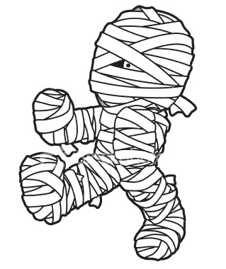Cartoon mummy clipart 2.