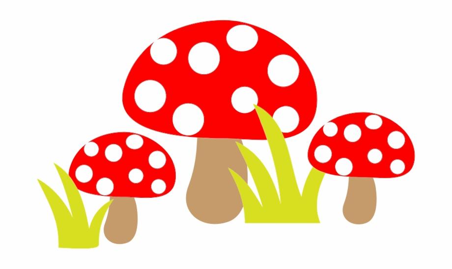 Free Simple Cartoon Mushrooms Mushroom Clipart.