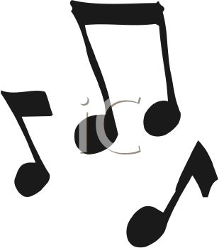A Cartoon Silhouette of Music Notes.