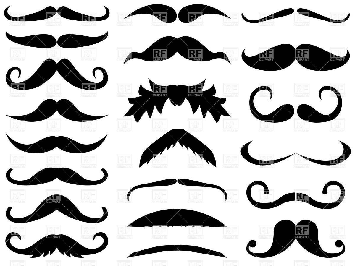 Retro cartoon moustache Stock Vector Image.