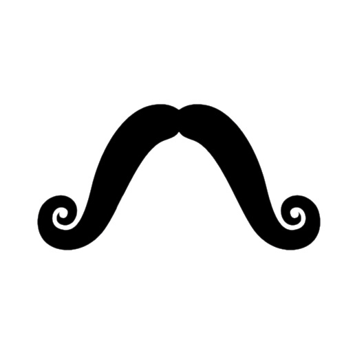 Download Mustache With Clear Further Cartoon Mustache Clipart PNG.