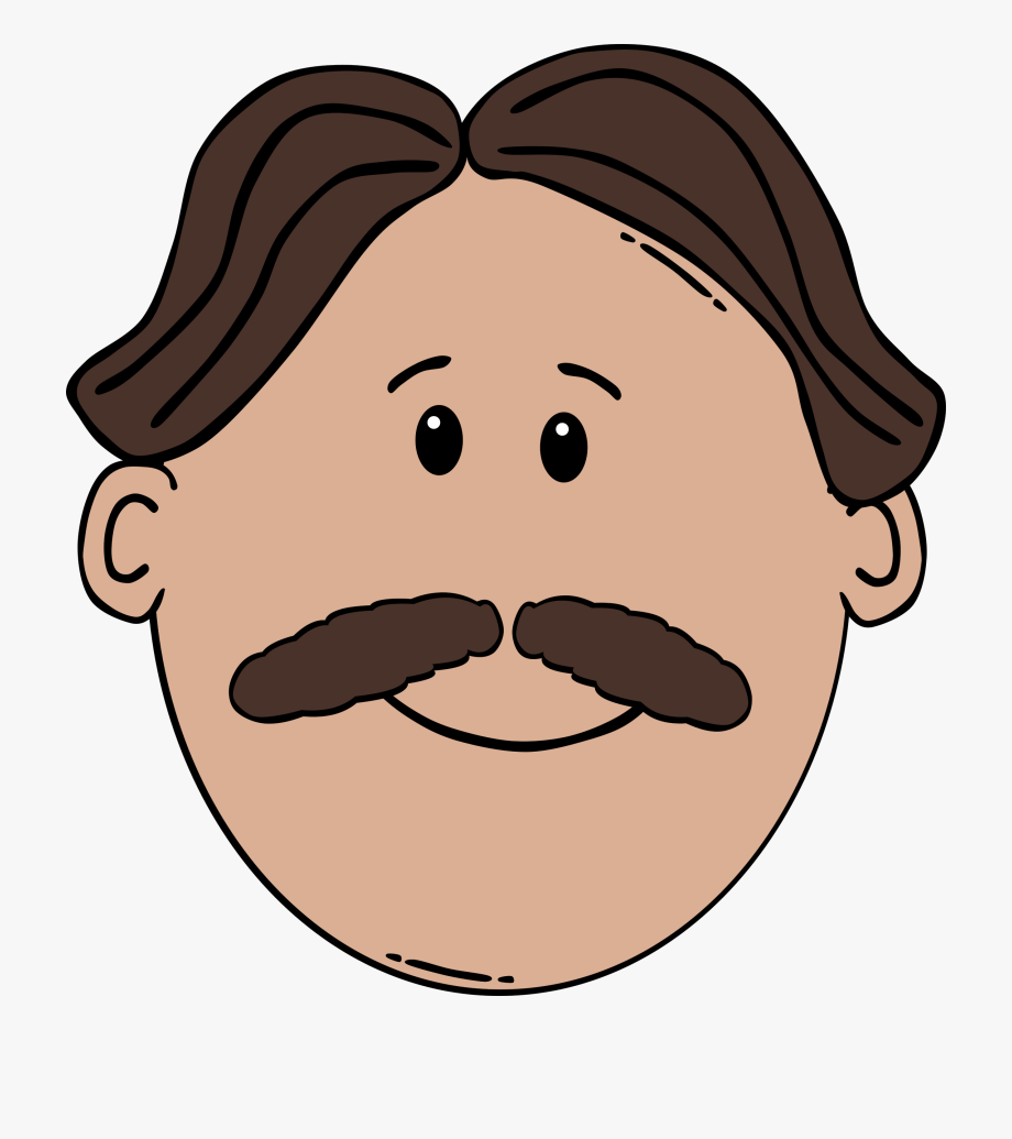 Man With Mustache Clipart #81117.