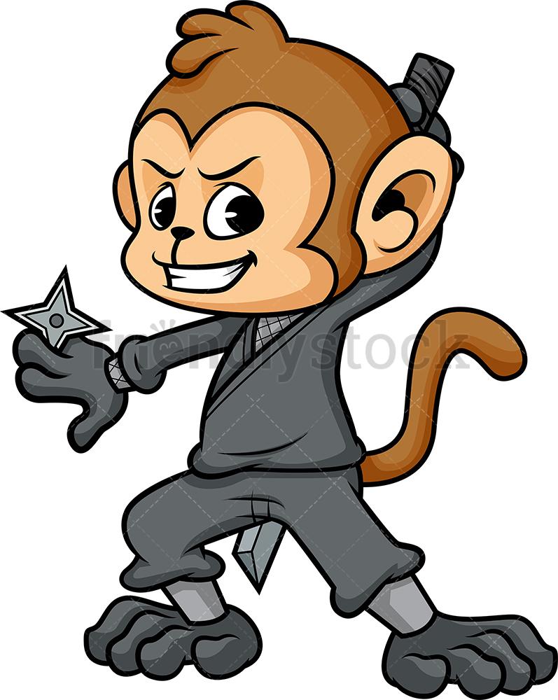 Monkey In Ninja Suit.