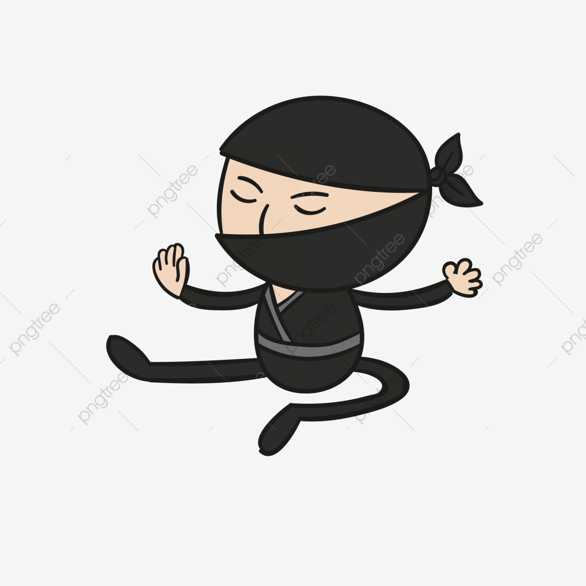 Ninja Japanese Ninja Jumping Ninja Cartoon Ninja, Ninja Illustration.