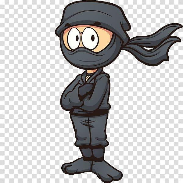 Cartoon Ninja , Ninja cARTOON transparent background PNG clipart.
