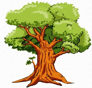 1311 Oak Tree free clipart.
