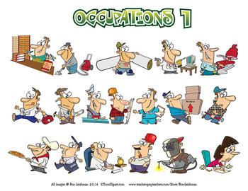 Occupations Cartoon Clipart Volume 1.