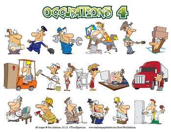 Occupations Cartoon Clipart Volume 4.
