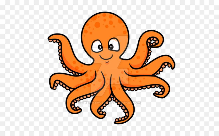 Octopus Cartoon png download.