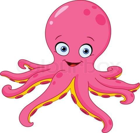 octopus cartoon.