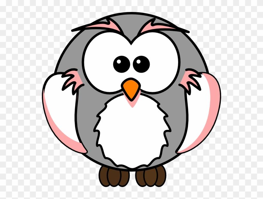 Grey Cartoon Owl Clipart (#393062).