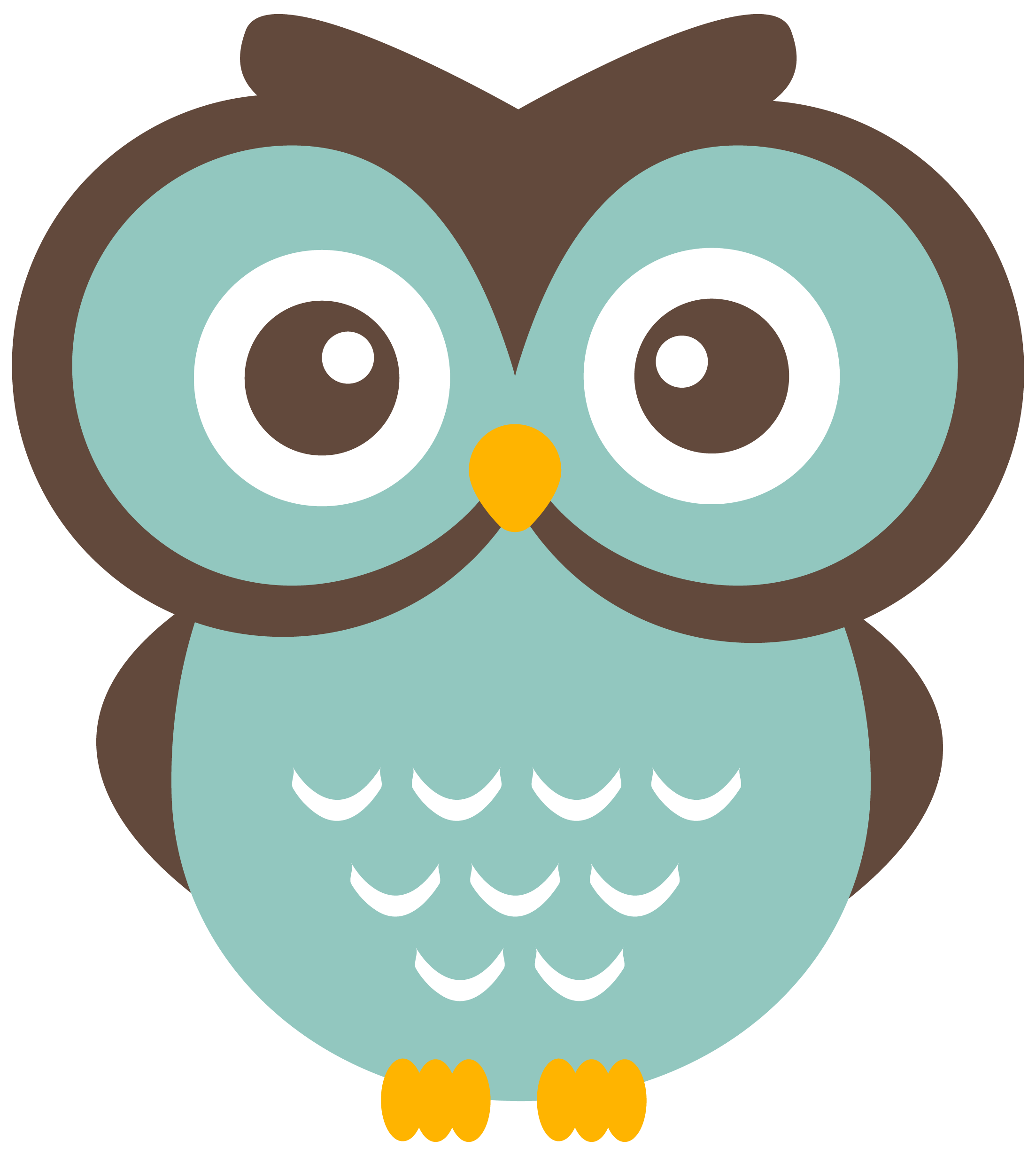 Teal Owl Clipart (free download to use).