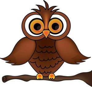 Owl clipart image wise old owl cartoon owl on a tree branch.