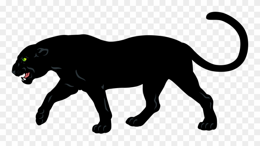 Cartoon Black Panther Animal Clipart (#112199).