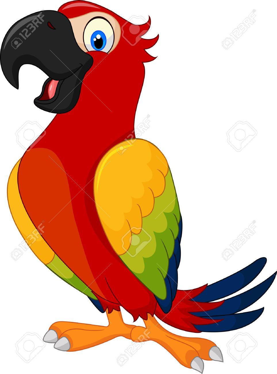 Cartoon cute parrot.