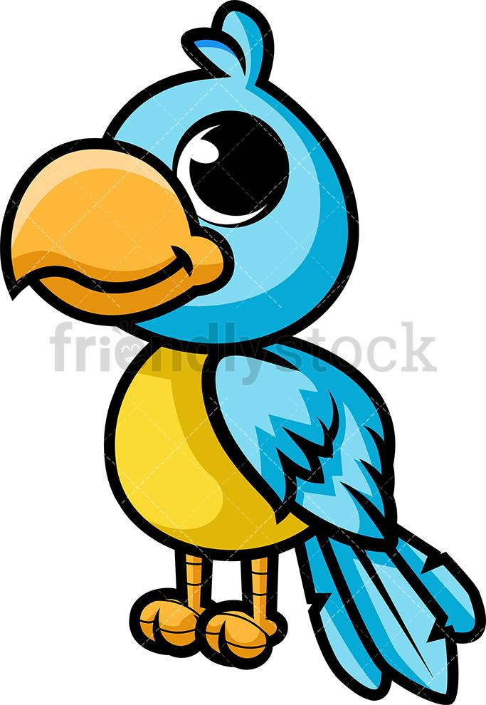 Cute Blue Parrot.