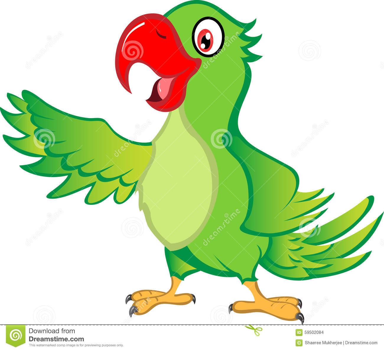 Cartoon Parrot stock vector. Illustration of illustrator.
