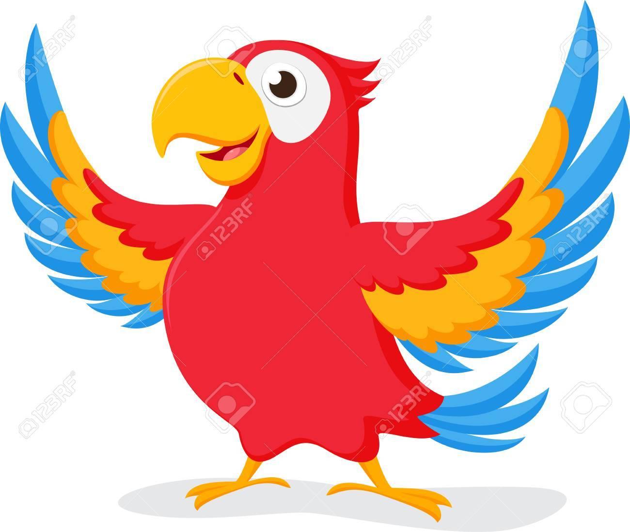 Cute Parrot cartoon.