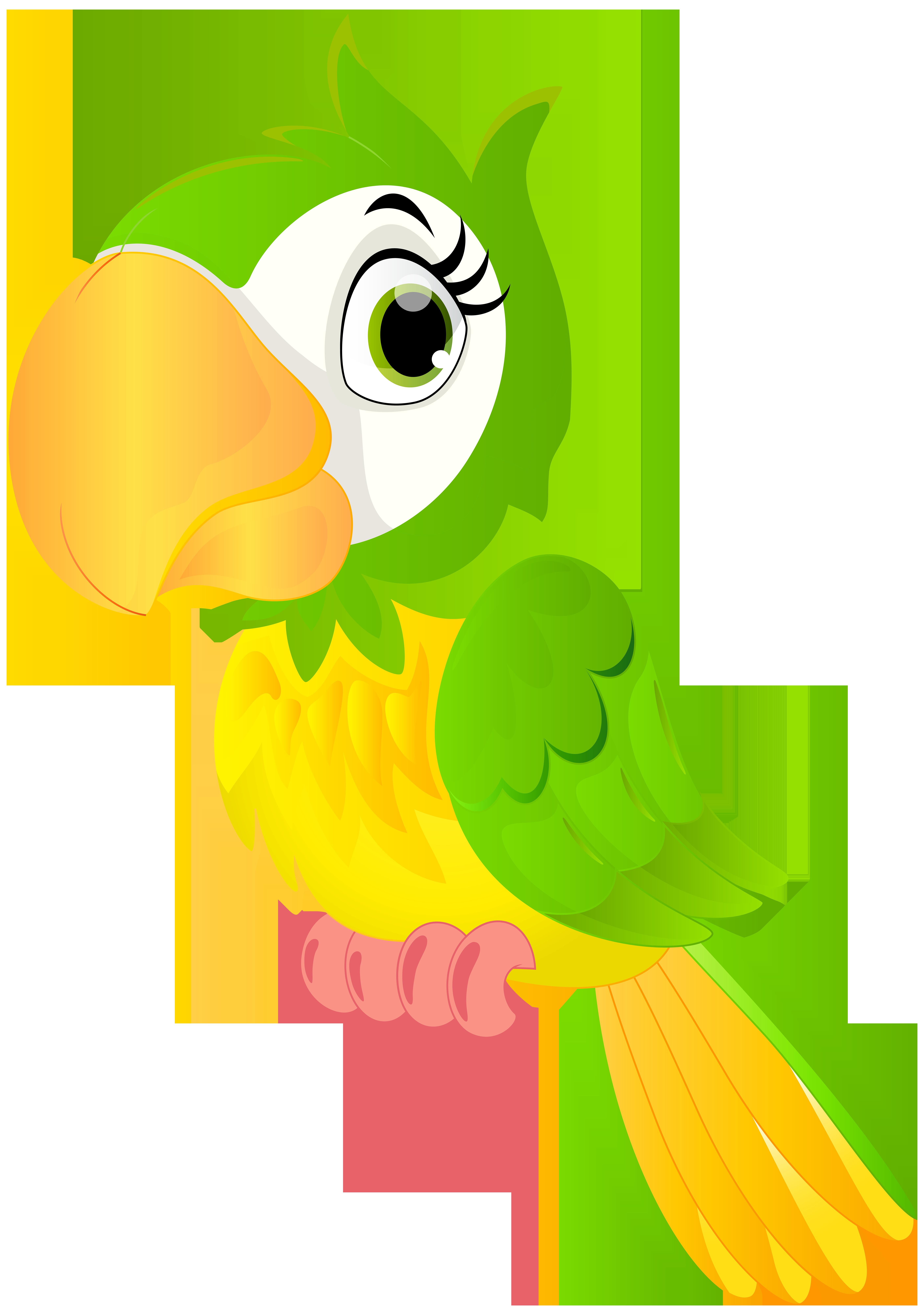 Parrot Cartoon PNG Clip Art Image.