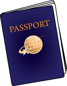 Cartoon Passport Clipart.