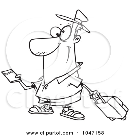 Cartoon Passport Clipart.