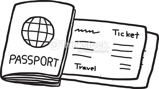 Passport Clipart Black And White.